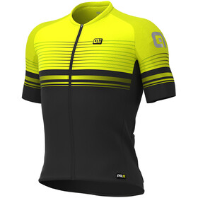 Alé Cycling Graphics PRR Slide Jersey korte mouwen Heren, black/fluo yellow